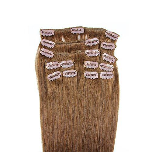 100-Remy-Clip-In-Extensions-Set-17-Clips-9-Teilig-40-cm-Echthaar-Dicke-Haarverlngerung-Haarverdichtung-4-Schokobraun-0