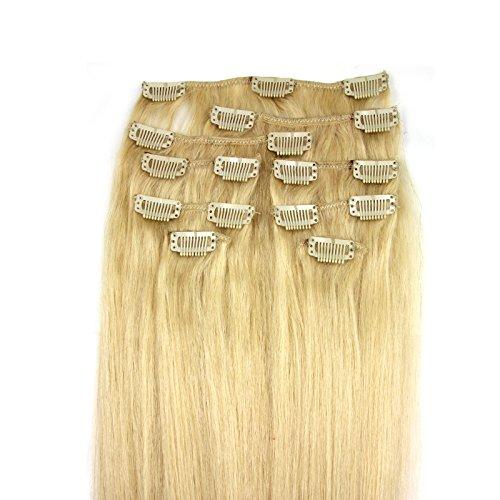 100-Remy-Clip-In-Extensions-Set-17-Clips-9-Teilig-45-cm-Echthaar-Dicke-Haarverlngerung-Haarverdichtung-24-Mittelblond-0