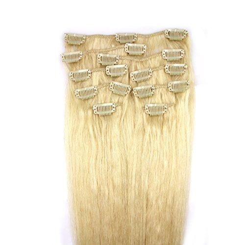 100-Remy-Clip-In-Extensions-Set-17-Clips-9-Teilig-45-cm-Echthaar-Dicke-Haarverlngerung-Haarverdichtung-60-Weiblond-0