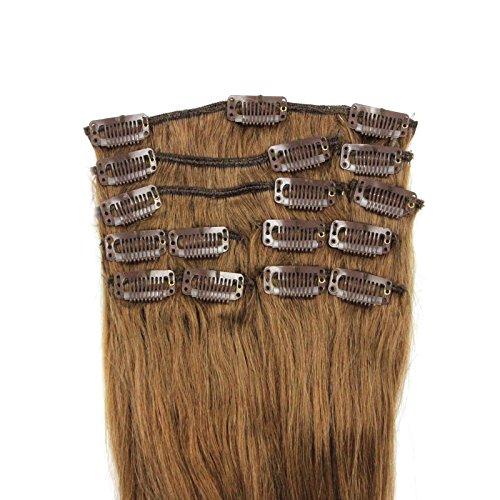 100-Remy-Clip-In-Extensions-Set-17-Clips-9-Teilig-45-cm-Echthaar-Dicke-Haarverlngerung-Haarverdichtung-Goldbraun-Haarteil-0