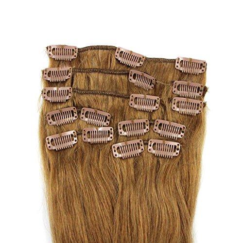 100-Remy-Clip-In-Extensions-Set-17-Clips-9-Teilig-45-cm-Echthaar-Dicke-Haarverlngerung-Haarverdichtung-Honigblond-Haarteil-0