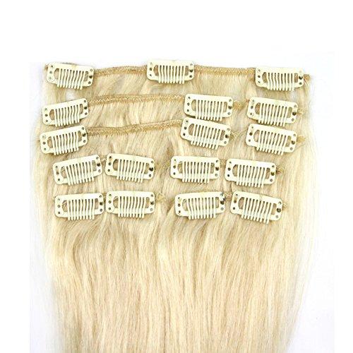 100-Remy-Clip-In-Extensions-Set-17-Clips-9-Teilig-50-cm-Echthaar-Dicke-Haarverlngerung-Haarverdichtung-613-Helllichtblond-0