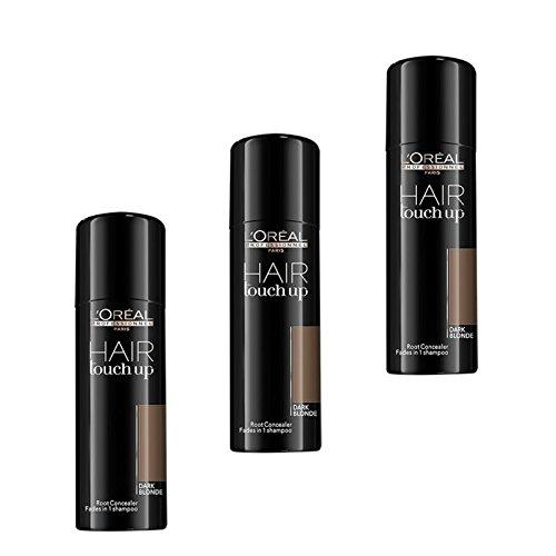 3-x-LOREAL-Hair-Touch-Up-Spray-dunkelblonddark-blonde-75ml-0