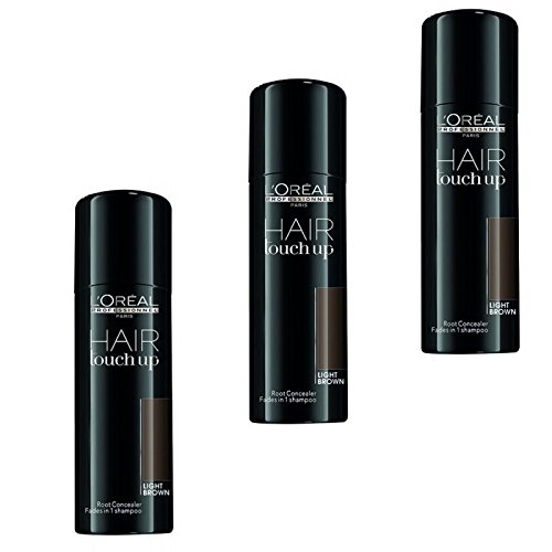3-x-LOREAL-Hair-Touch-Up-Spray-hellbraunlight-browne-75ml-0