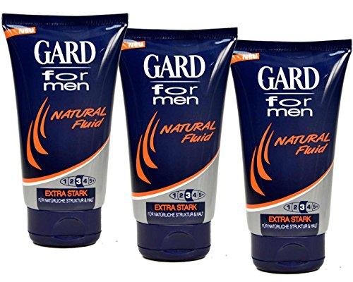 3x-Gard-For-Men-Natural-Fluid-Haargel-Extra-Stark-Extremer-Halt-150ml-0