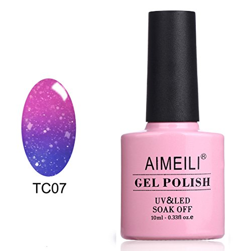 AIMEILI UV LED Auflösbarer Thermo Gel Polish Nagellack - Aqua Mist (TC07) 10ml