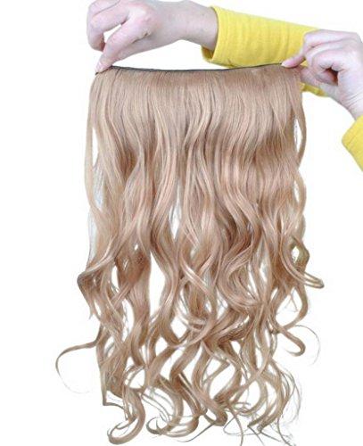EOZY-1-Set-Kunsthaar-Locken-Wellig-5-Clip-In-Extensions-Haarverlngerung-Weft-Percke-Haarteil-60cm-ch010-27-Blond-0
