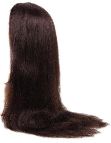EOZY-1-Stck-Dunkel-Braun-Weiblich-Lange-Haar-Wigs-Percken-Haarverlngerung-Echthaar-Echthaarstrhnen-Haarteil-Lnge26-Inch-637cm-0