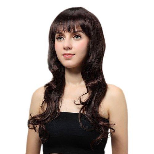 EOZY-1-Stk-Damenpercke-Chestnut-Brown-Kunsthaar-Perck-Lang-GelocktWelleParty-Haar-Percken-Haarteile-Haar-Wigs-Wie-Echthaar-26inch68cm-0