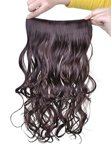 EOZY-Clip-in-Haarteil-mit-5-Klammern-60cm-lang-lockig-gewellte-Haarverlngerung-Haarteil-2t33-Chestnut-Braun-0