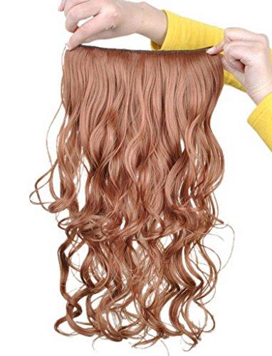 EOZY-Clip-in-Haarteil-mit-5-Klammern-60cm-lang-lockig-gewellte-Haarverlngerung-Haarteil-30-blonde-0
