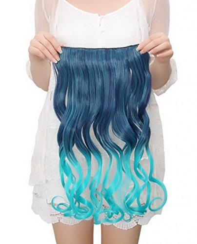 EOZY-Clip-in-Haarteil-mit-5-Klammern-60cm-lang-lockig-gewellte-Haarverlngerung-Haarteil-T2-blau-0