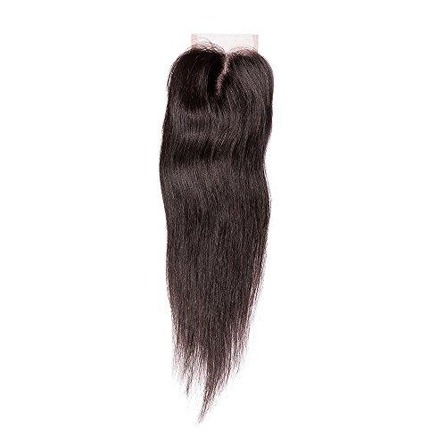 EOZY-Naturschwarz-Gerade-Glatt-Echthaar-Hair-Lace-Top-Closure-Extension-Haarverlngerung-Percke-Wigs-Haarteil-Langhaar-20inch50cm-0