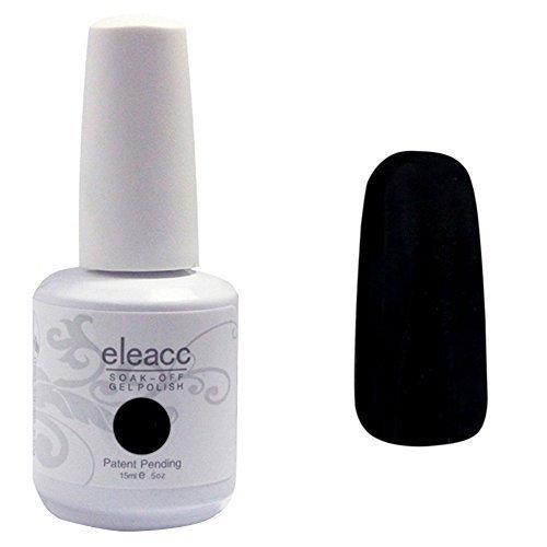 Eleacc-15ml-Soak-off-UV-LED-Nagellack-Nail-Gel-Auflsbarer-Farblack-Schwarz-0