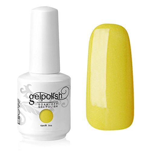 Elite99 Gelish UV LED Gel auflösbarer Nagellack Nagelgel Gellack Bananen neon gelb yellow (1 x 15 ml)