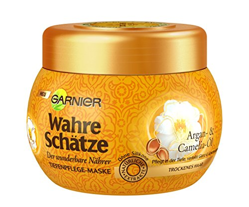 GARNIER-Wahre-Schtze-Haar-Maske-Haarkur-fr-intensive-Haarpflege-mit-Argan-l-Camelia-l-fr-trockenes-Haar-1-x-300ml-0