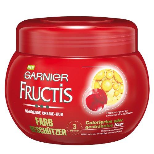 Garnier-Fructis-Farbbeschtzer-Nhrende-Creme-Kur-Haarmaske-fr-intensive-Haarpflege-bis-in-die-Spitzen-mit-Leinsamen-l-und-Acai-Beeren-fr-coloriertes-oder-gestrhntes-Haar-1er-Pack-300ml-0