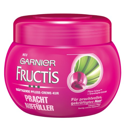 Garnier-Fructis-Prachtauffller-krftigende-Creme-Kur-Haarkur-fr-sichtbar-prachtvolles-gekrftigtes-Haar-mit-Fibra-Cylane-Granatapfel-Extrakt-1er-Pack-300-ml-0