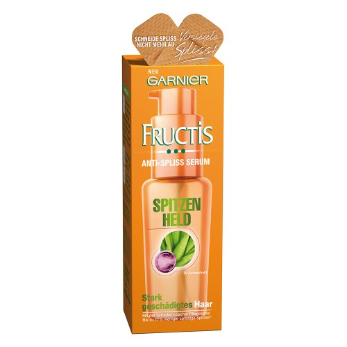 garnier fructis schaden lscher spitzenheld anti spliss serum haarkur gegen spliss fr stark. Black Bedroom Furniture Sets. Home Design Ideas