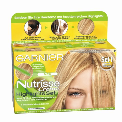 garnier nutrisse creme highlights set 1 f r helle str hnchen str hnen set zum selber machen. Black Bedroom Furniture Sets. Home Design Ideas