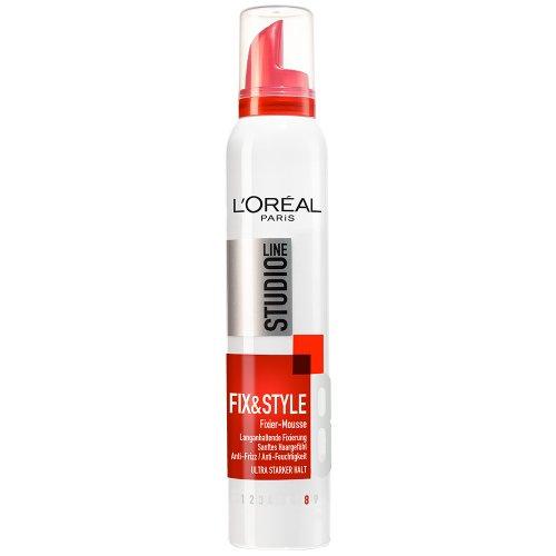 LOral-Paris-Studio-Line-Haarschaum-Fix-Style-Fixiermousse-Haar-Mousse-mit-ultra-starkem-Halt-kein-Verkleben-kein-Beschweren-1-x-200-ml-0