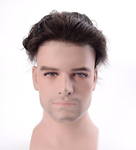 Lordhair-Echt-Menschliches-Haar-Super-Dnne-Haut-Der-Mnner-Toupet-Off-Black-1B-Haarfarbe-0