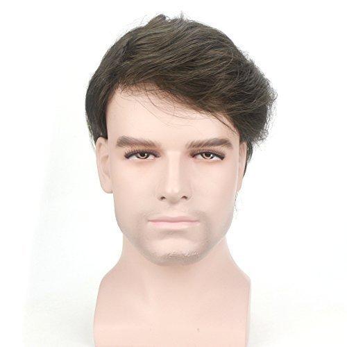 Lordhair-Menschliches-Haar-008mm-Transparent-Super-Dnne-Haut-Vorne-12-V-Schlaufen-Farbe-4ASH-Toupet-fr-Mnner-0