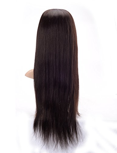 Lordhair-Menschliches-Haar-seidige-gerade-Spitze-Front-Percke-20-Zoll-Lnge-weg-schwarze-Farbe-1B-0