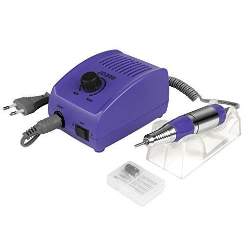 Manikre-Pedikreset-Elektrische-Nagelfeile-JSDA-Profi-Nagelfrser-Nagelset-Nagelfrser-Aufstze-mit-4-Kits-Violet-0
