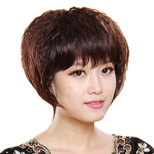 Short-Dark-Brown-Kinky-Curly-Hair-Replacement-Frauen-Synthetic-0