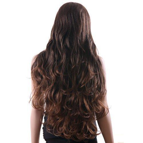 Songmics-Neu-Stil-Percke-Haar-Mode-Wig-Wigs-Weiblich-Braun-Gelockt-91cm-Lang-WFS133-0