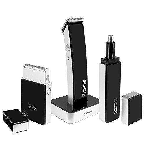 Tezam-All-In-One-Paket-Professioneller-Rasierer-fr-Mnner-Wiederaufladbare-Moderne-Haar-Scherer-Kit-Nasenhaarbartschneider-wiederaufladbare-Elektrorasierer-0
