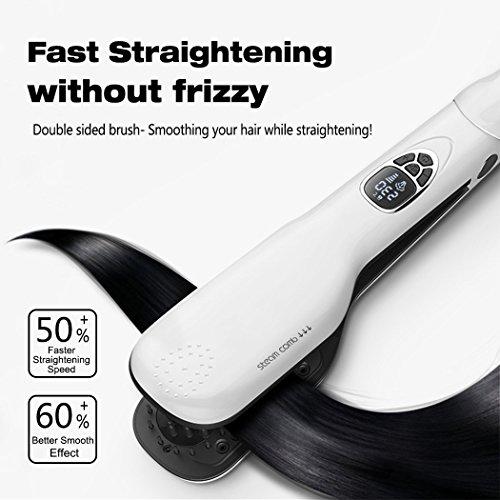 Wawoo-LCD-Dampf-Haargltter-Ionen-Keramikbeschichtung-Temperatureinstellbar-5-Temperaturstufen-150-230-schnelle-Heizung-PTC-Technologie-intelligenten-Thermostaten-Nass-und-Trocken-Elektrische-Haarbrste-0