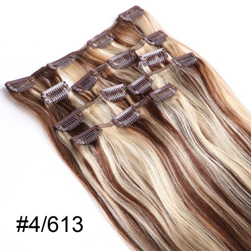YESURPRISE-7-Clips-In-Extensions-Set-100-Echthaar-Remy-Haar-Hair-Haarverlngerung-15-inch-38cm-4613-70g-0