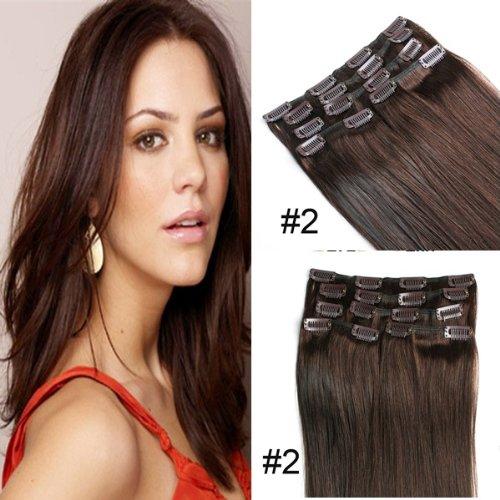 YESURPRISE-7-Clips-In-Extensions-Set-100-Echthaar-Remy-Haar-Hair-Haarverlngerung-18-inch-45cm-2-70g-0