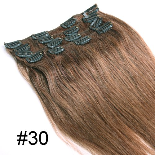 YESURPRISE-7-Clips-In-Extensions-Set-100-Echthaar-Remy-Haar-Hair-Haarverlngerung-18-inch-45cm-30-70g-0