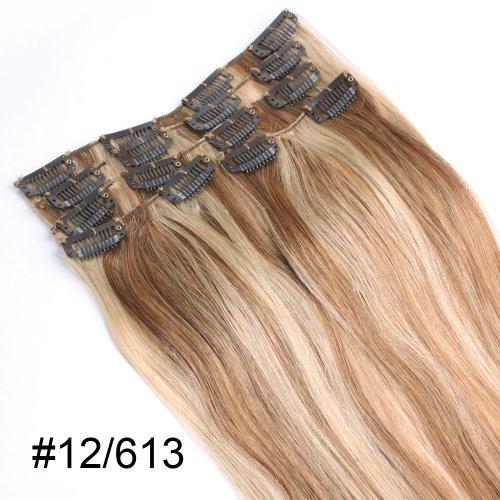 YESURPRISE-7-Clips-In-Extensions-Set-100-Echthaar-Remy-Haarverlngerung-20-12613-70g-50cm-0