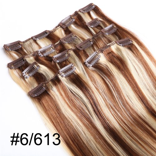 YESURPRISE-7-Clips-In-Extensions-Set-100-Echthaar-Remy-Haarverlngerung-20-6613-70g-0