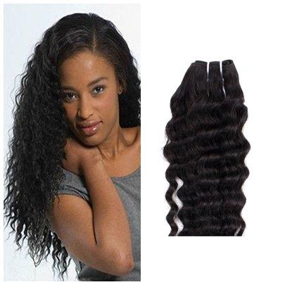 YESURPRISE-Extensions-Remy-Echthaar-Kleine-Volumen-Haarverlngerung-Haar-Human-Hair-Weft-100g-Haar-24-inch-schwarz-60cm-0