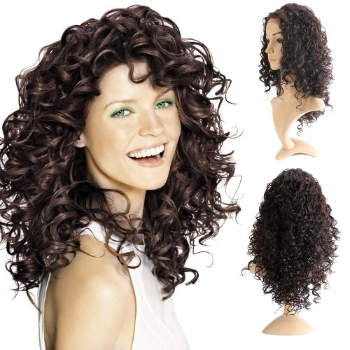 YESURPRISE Voll Lace Wig Synthetische Haar Synthetic Haarverlängerung Quality Curly Wavy Women Lady HAND TIED Synthetic Hair Front Lace Full Voll Lace Wigs 20inch
