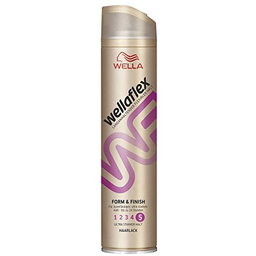 Wellaflex Haarlack Form and Finish ultra starker Halt, 6er Pack (6 x 250 ml)