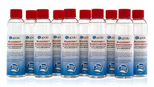10x 250 ml blupalu Wasserbett Konditionierer - Marken Wasserbetten Conditioner made in Germany