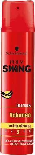 Schwarzkopf Poly Swing Volumen Haarlack, extra strong Halt 3, 5er Pack (5 x 250 ml)