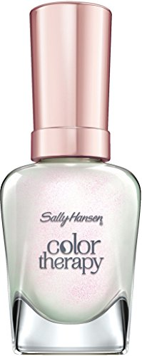 Sally Hansen Color Therapy Nagellack, 491 Opulent Pearl, sofort pflegender Farblack mit glänzendem Finish, weiß-rosa-schimmernd, Enchanting Gems Collection, 14.7 ml