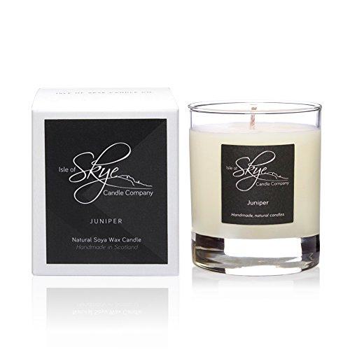 Isle of Skye Kerze im Glas Juniper. 30hr. natürlichem Soja Haarwachs, Handgefertigt in Geschenkverpackung